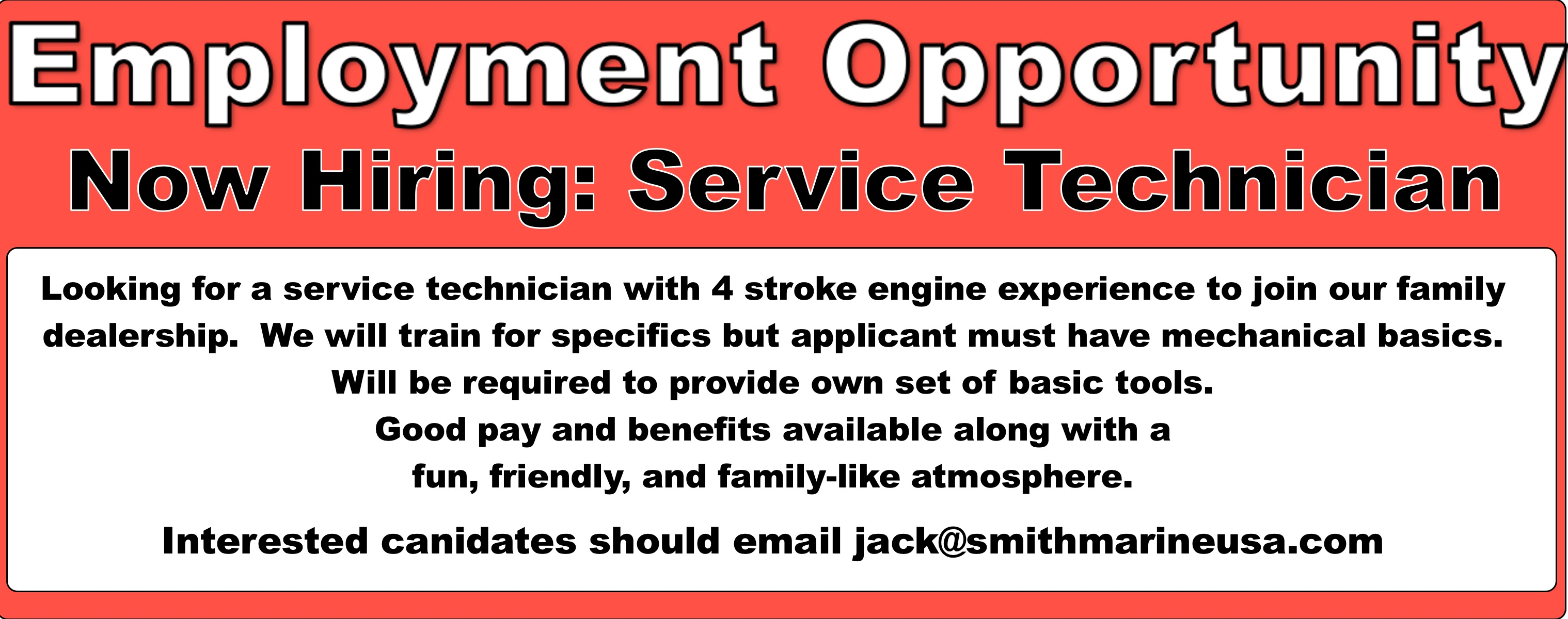 Join the team at Smith Marine, LLC